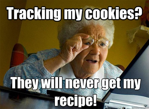 tracking my cookies? they will never get my recipe